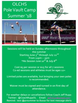 Pole Vault Summer Camp