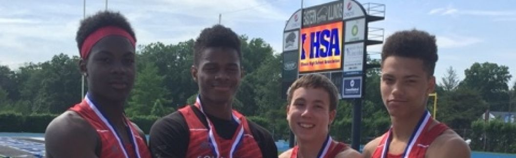 IHSA 2016 4x100 3rd place