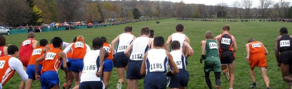 Start of the 2012 IHSA AA State Meet